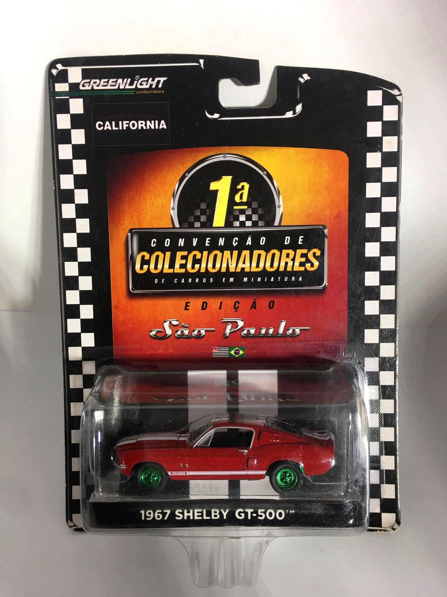 Greenlight - 1967 Shelby GT-500 Vermelho - 1 Convenção de Colecionadores de Carros em Miniaura - Edição São Paulo - GreenMachine