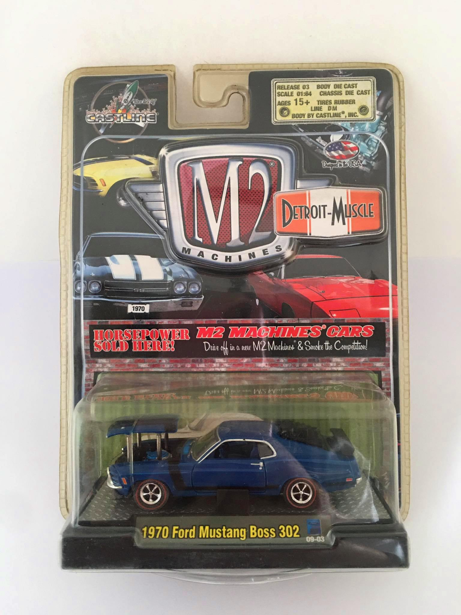 M2 Machines - 1970 Ford Mustang Boss 302 Azul - Detroit-Muscle