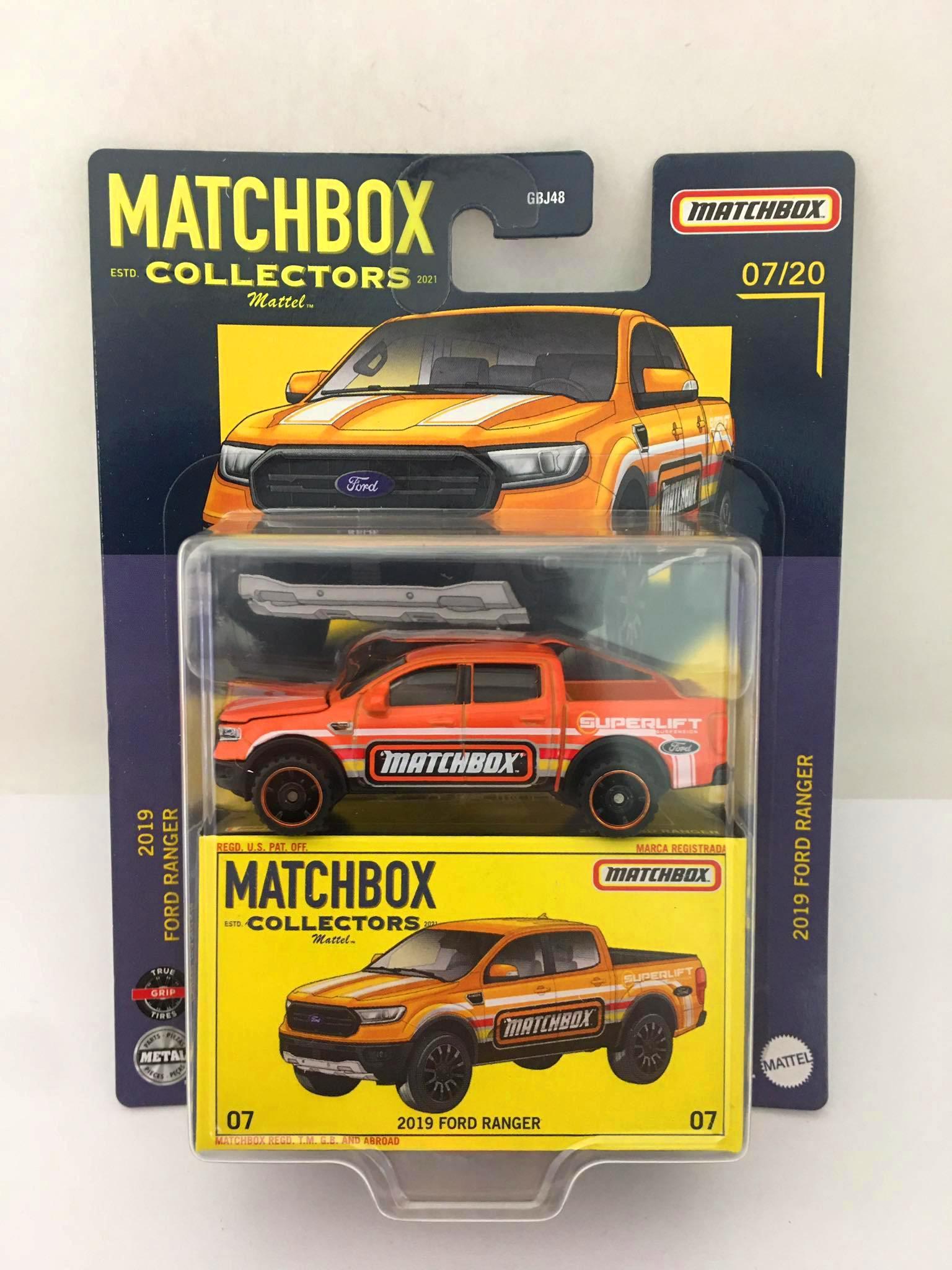 Matchbox - 2019 Ford Ranger Laranja - Matchbox Estd. Collectors 2021