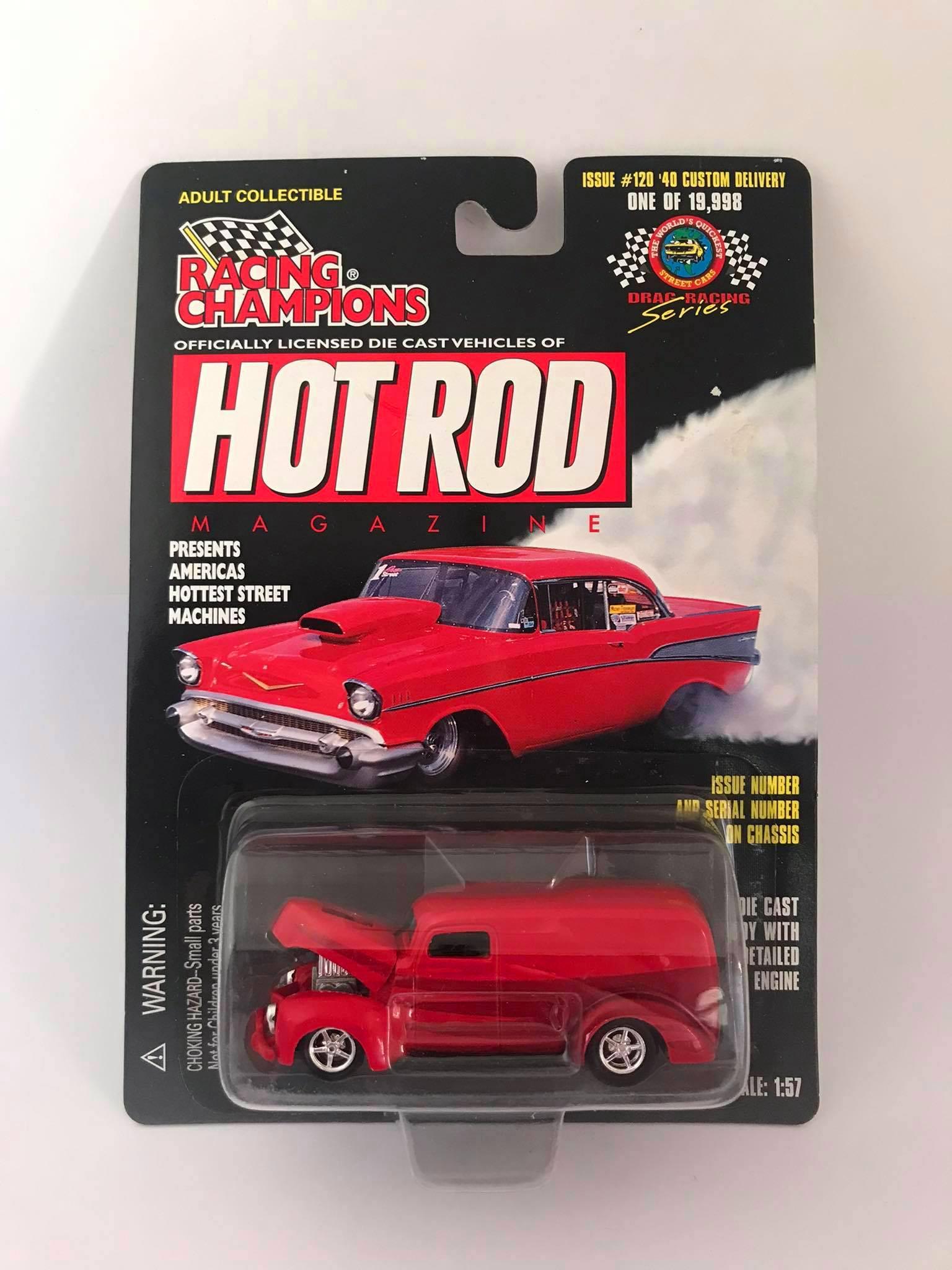 Racing Champions  - 40 Custom Delivery Vermelho - Hot Rod Magazine - Drag Racing Series