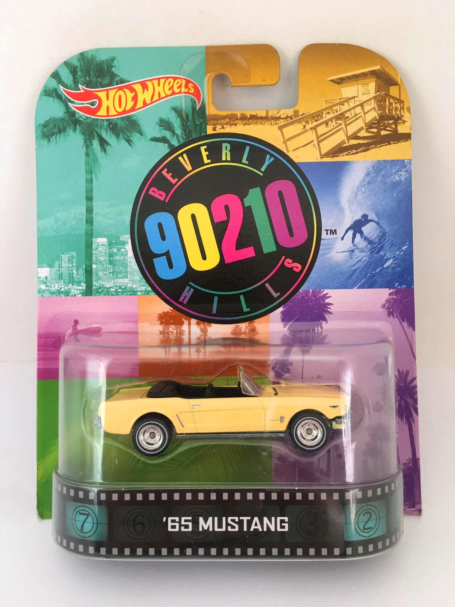Hot Wheels - 65 Mustang Amarelo - Beverly 90210 Hills - Retro