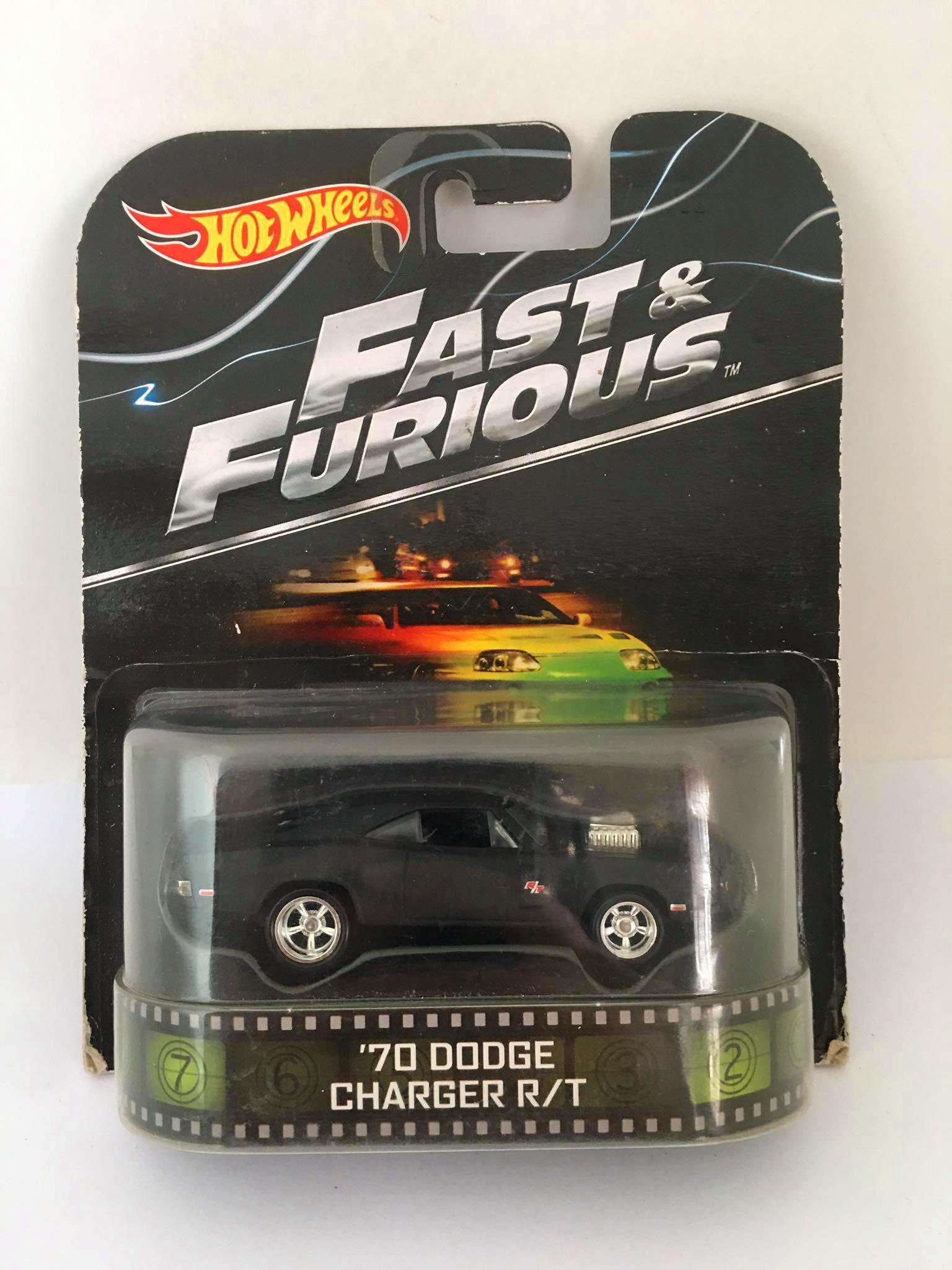 Hot Wheels - 70 Dodge Charger R/T Preto - Fast & Furious - Velozes e Furiosos - Leia Descrição