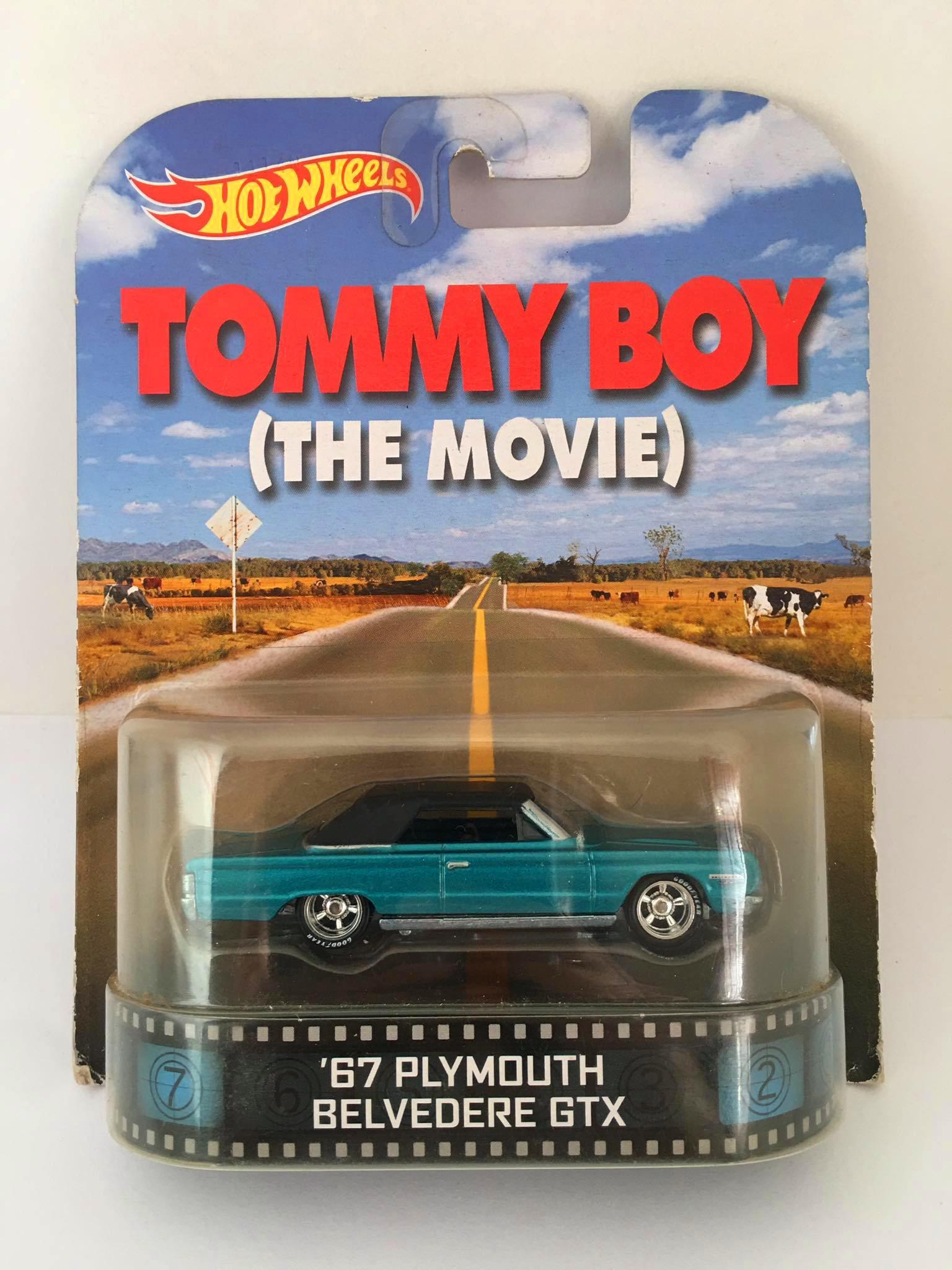 Hot Wheels - 67 Plymouth Belvedere GTX - Tommy Boy ( The Movie) Azul - Retro - Leia Descrição