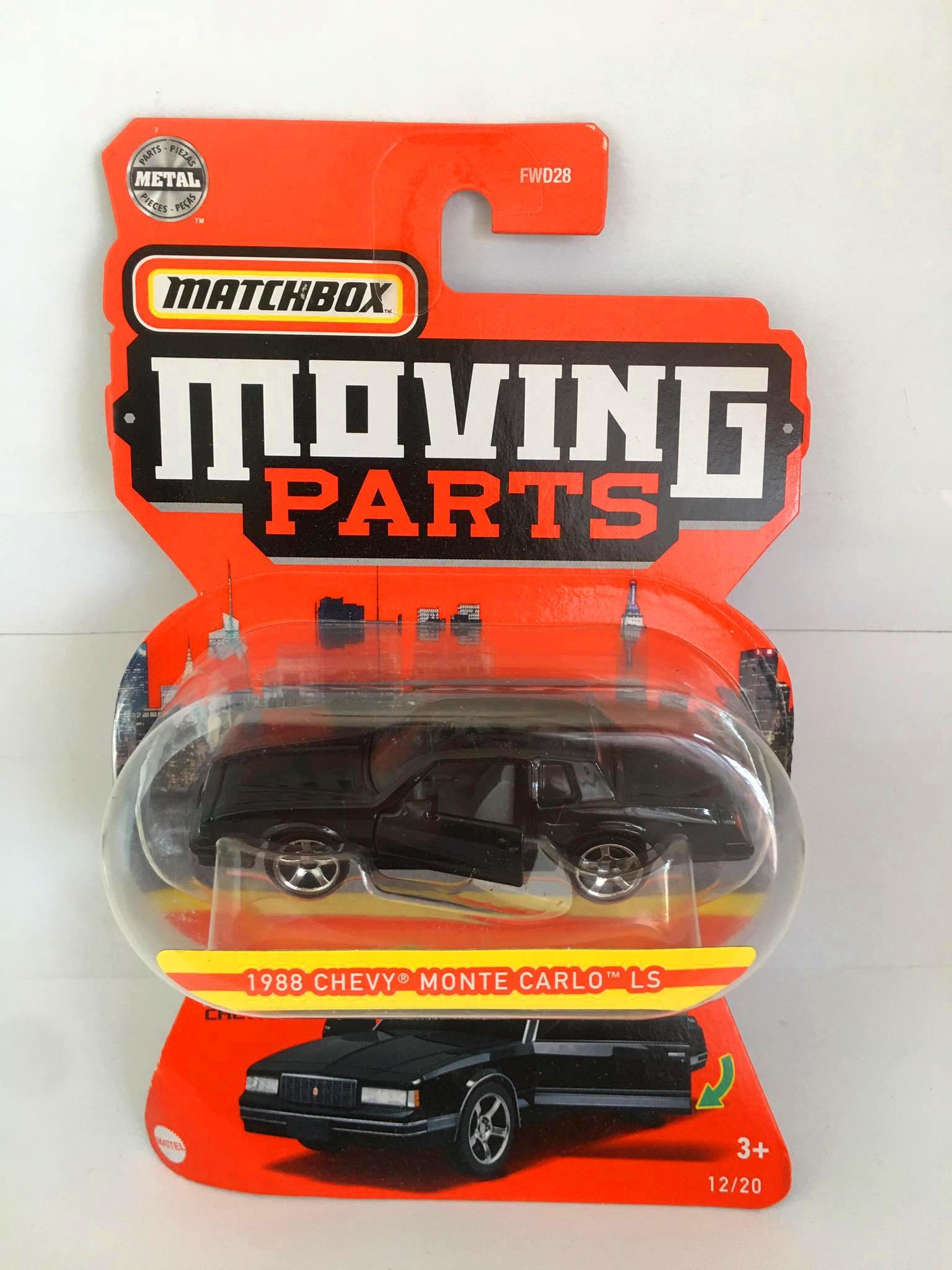 Matchbox - 1988 Chevy Monte Carlo LS Preto - Moving Parts