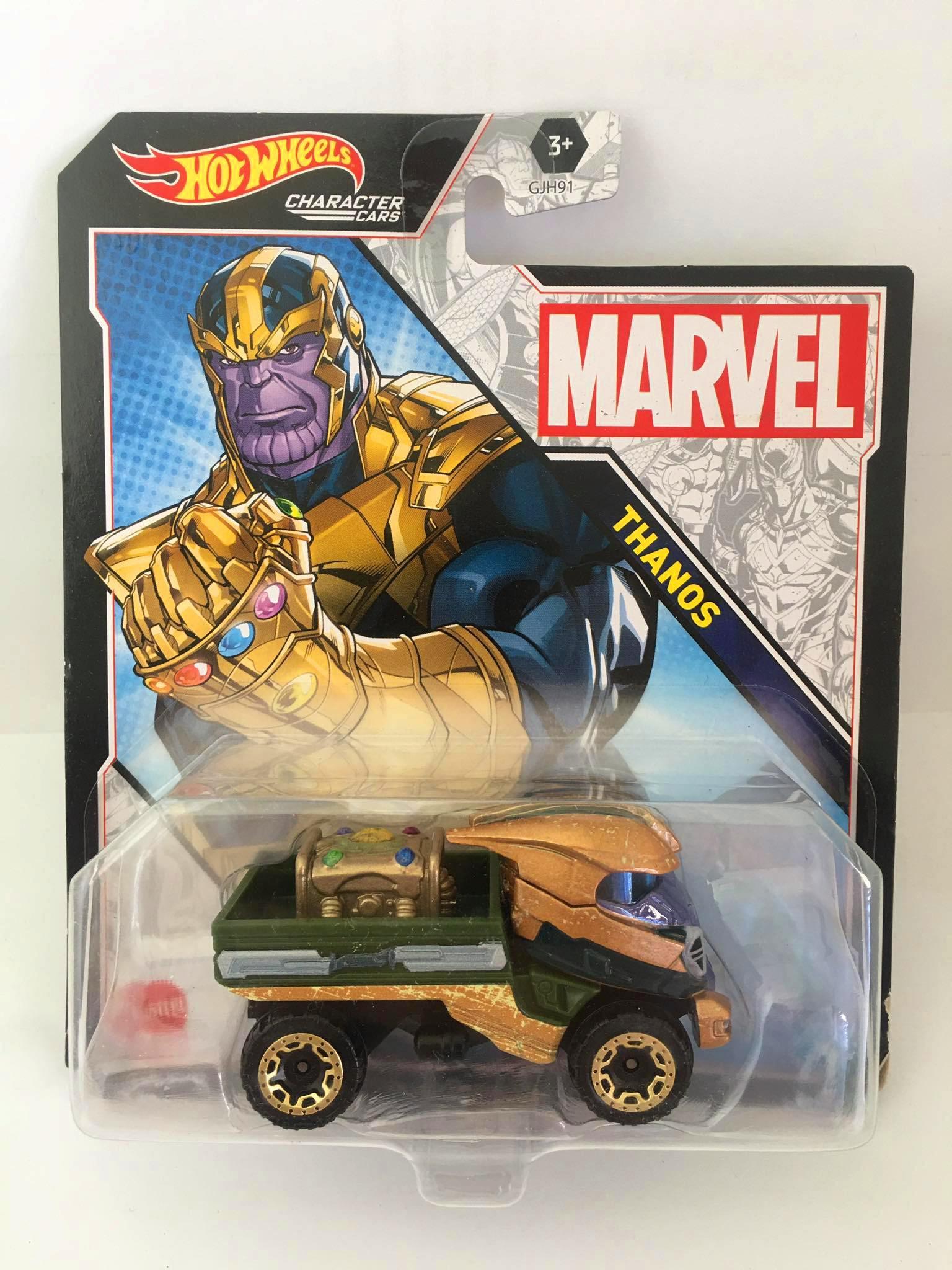 Hot Wheels - Thanos Verde/Dourado - Marvel - Character Cars