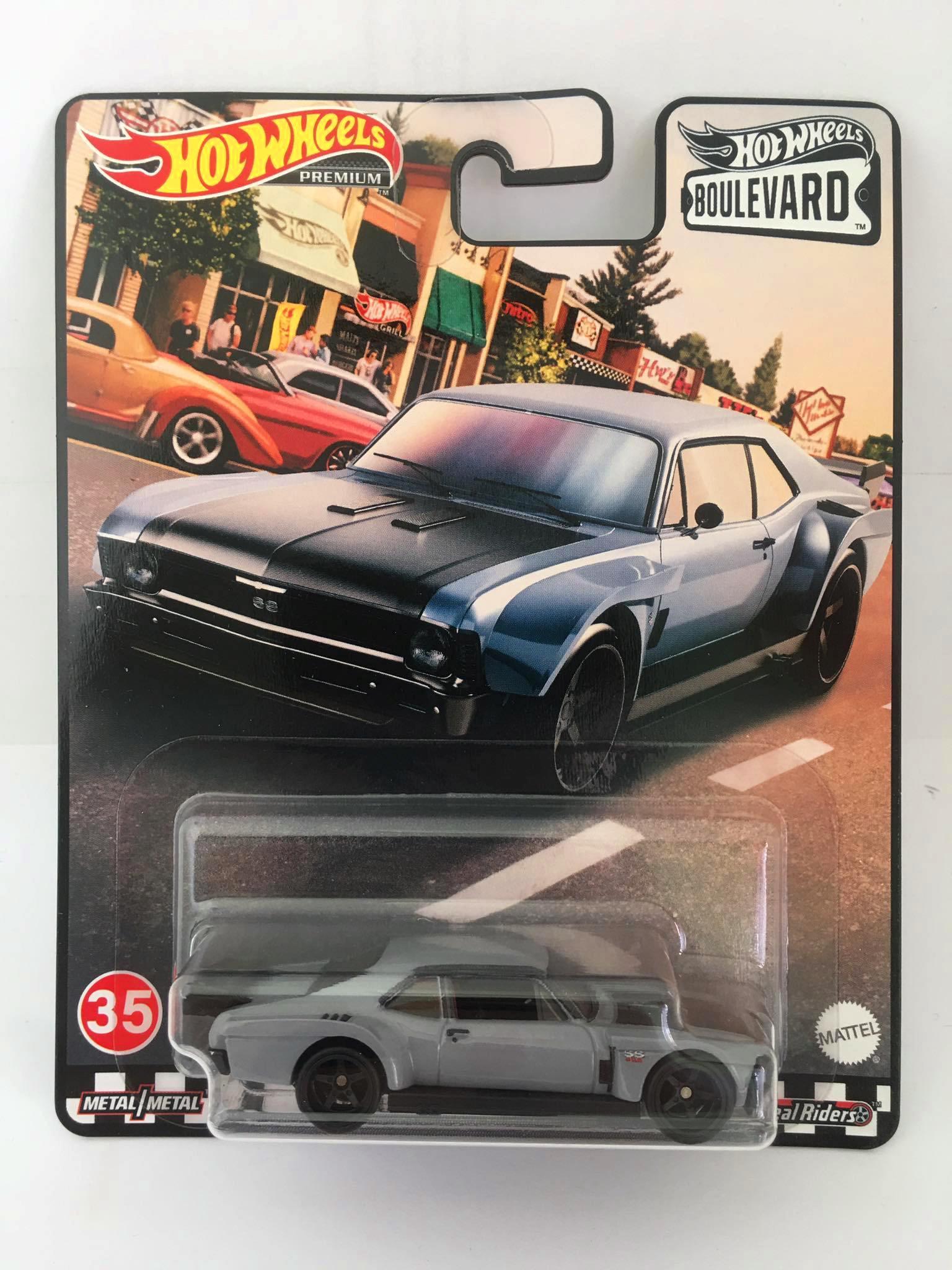 Hot Wheels - Custom 70 Chevy Nova Cinza - Boulevard
