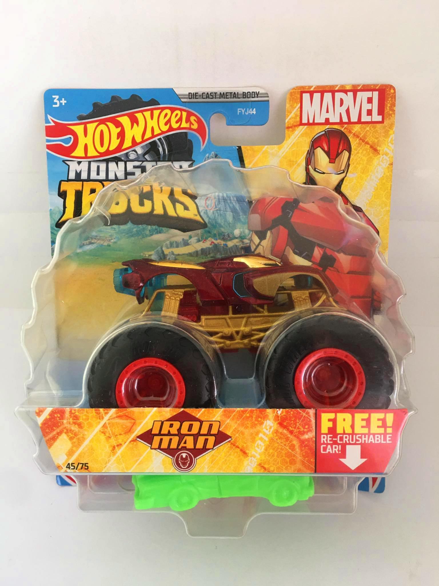 Hot Wheels - Iron Man Vermelho - Monster Trucks