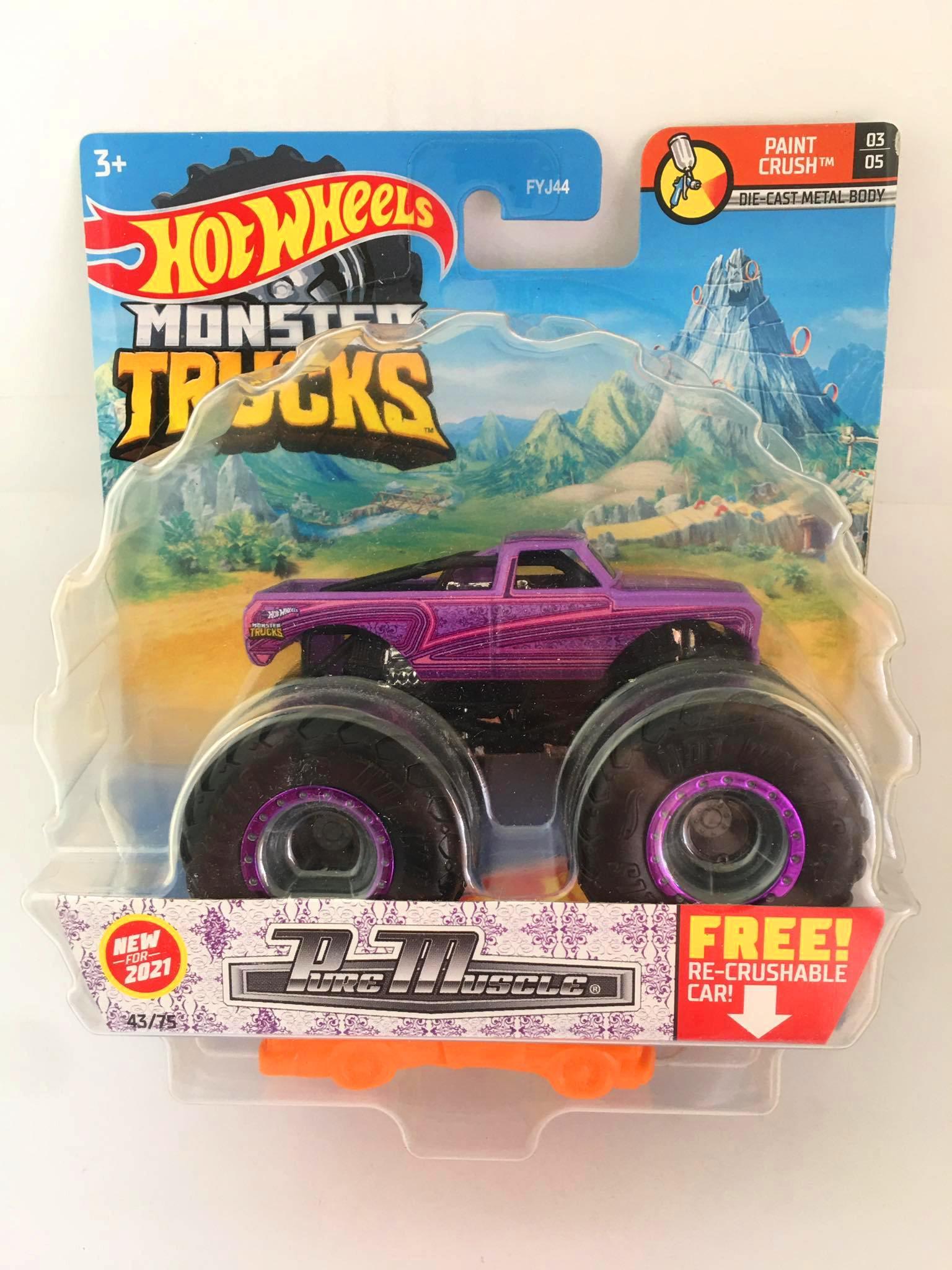 Hot Wheels - Pure Muscle Roxo - Monster Trucks