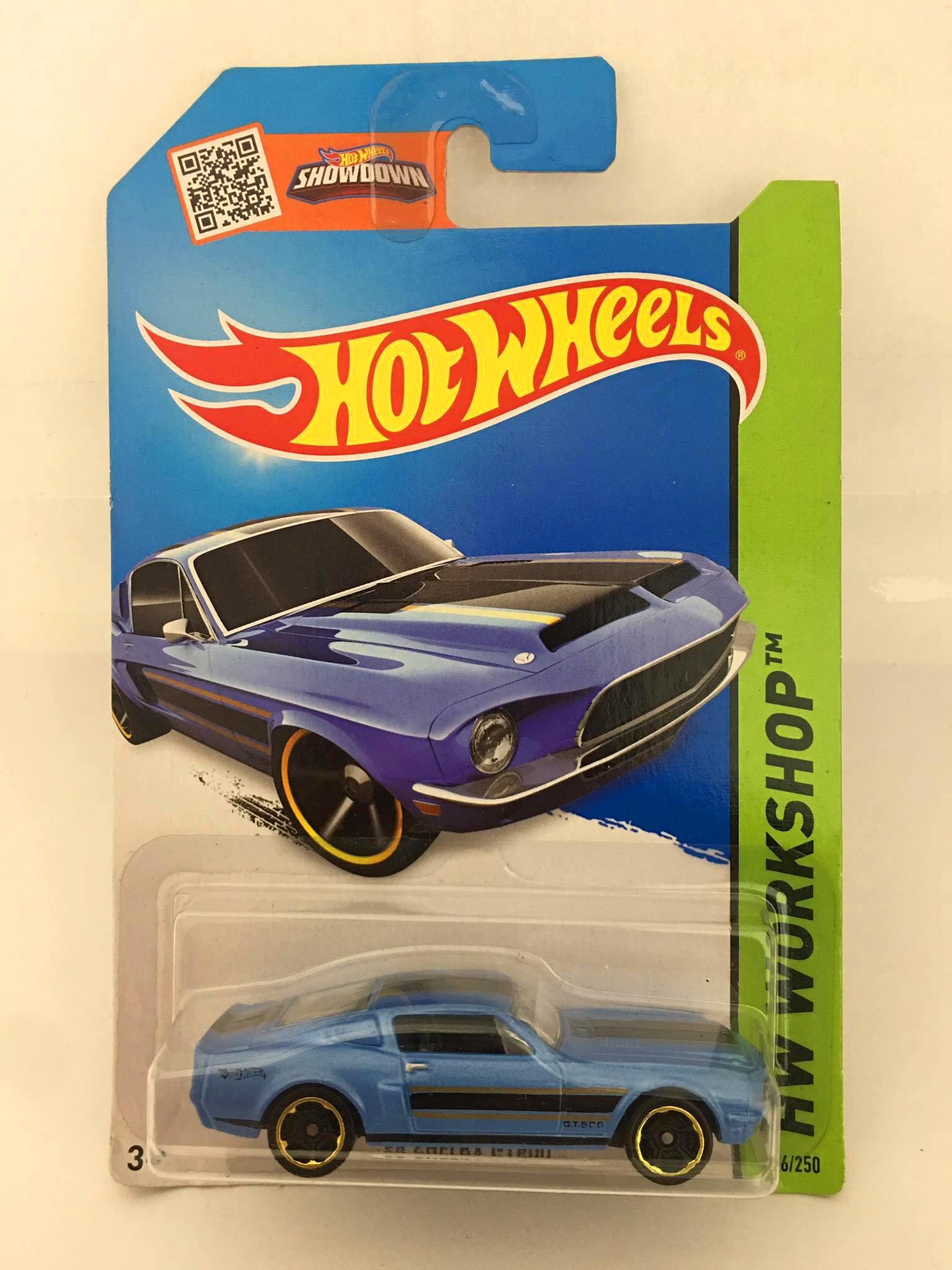 Hot Wheels - 68 Shelby GT500 Azul - Mainline 2014