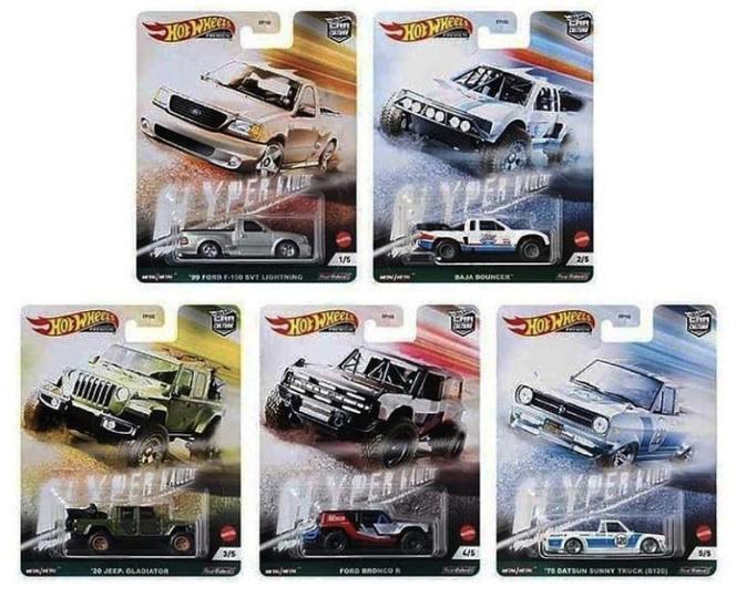 Hot Wheels - Set Hyper Haulers - Completo com 5 Miniaturas - Car Culture