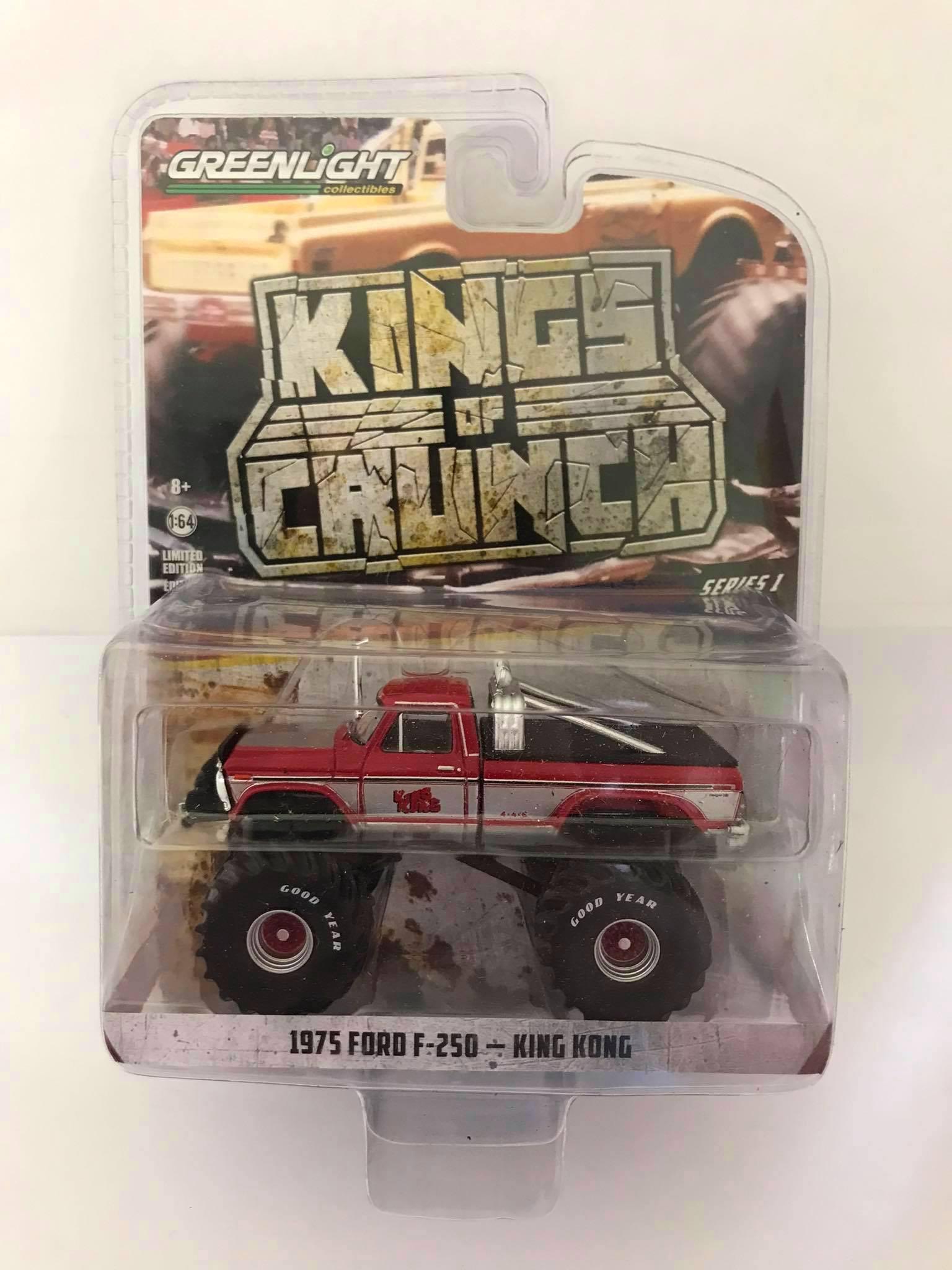 Greenlight - 1975 Ford F-250 Vermelho - King Kong - Kings of Crunch