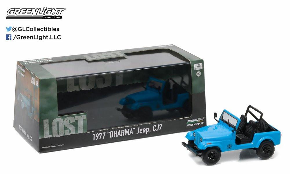 Greenlight - 1977 Dharma Jeep CJ7 - Lost - Escala 1:43