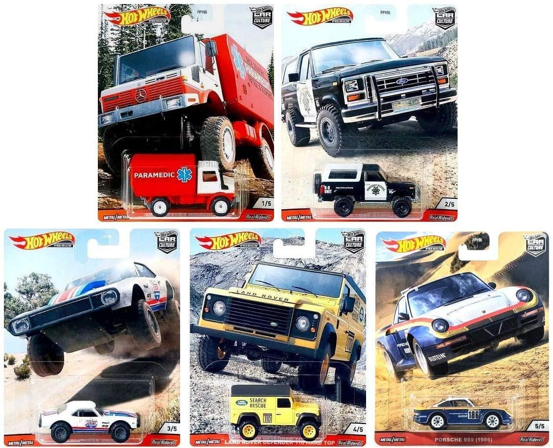 Hot Wheels - Set Wild Terrain 2020 Completo 5 Miniaturas - Car Culture