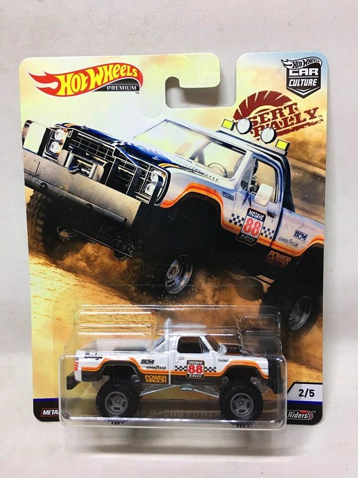 Hot Wheels - 80 Dodge Macho Power Wagon Branco - Desert Rally - Car Culture