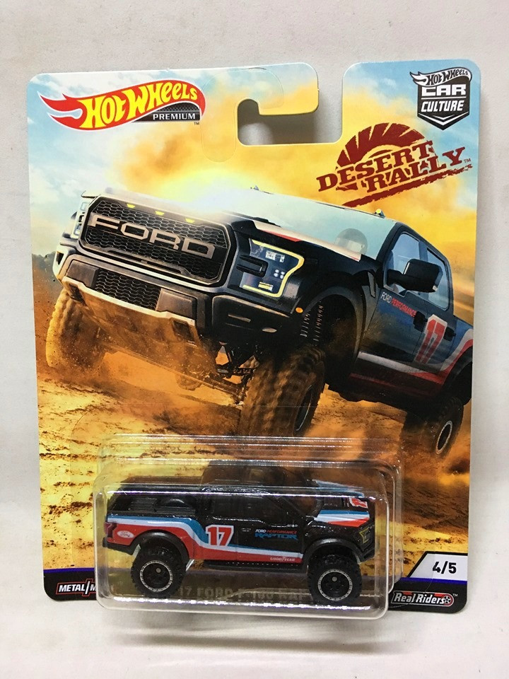 Hot Wheels - 17 Ford F-150 Raptor Preto - Desert Rally - HW Premium