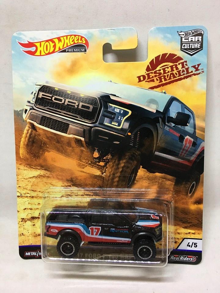 Hot Wheels - 17 Ford F-150 Raptor Preto - Desert Rally - Car Culture
