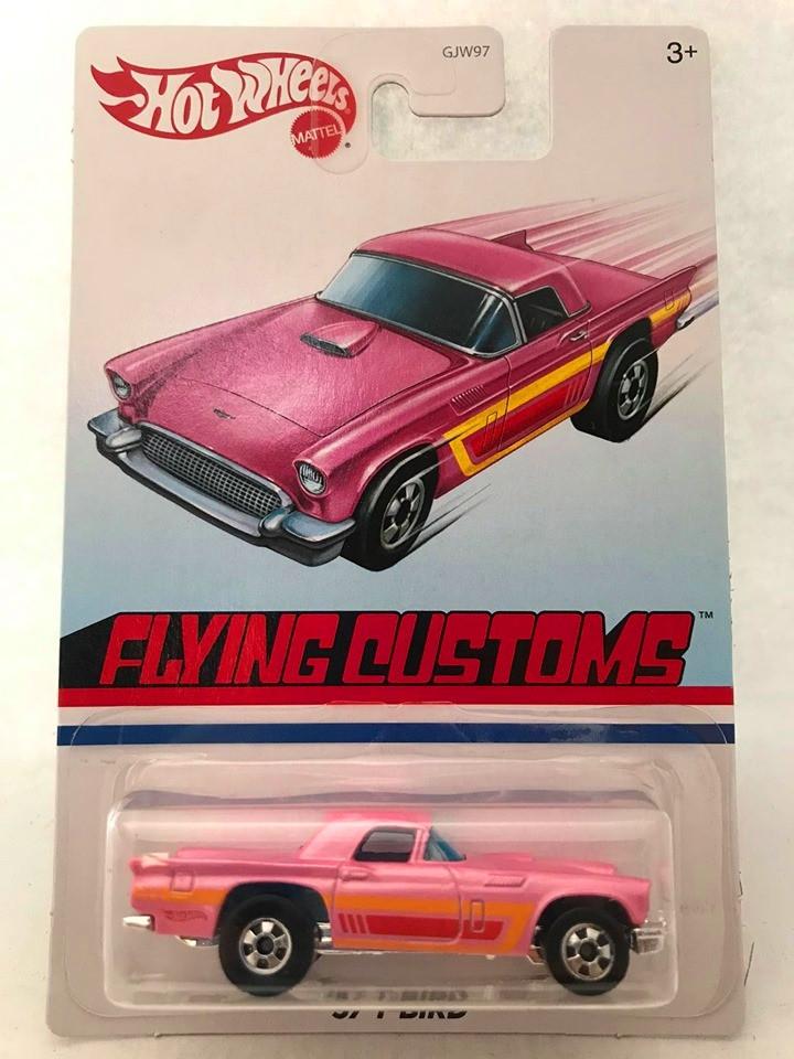 Hot Wheels - 57 T-Bird Rosa  - Flying Customs