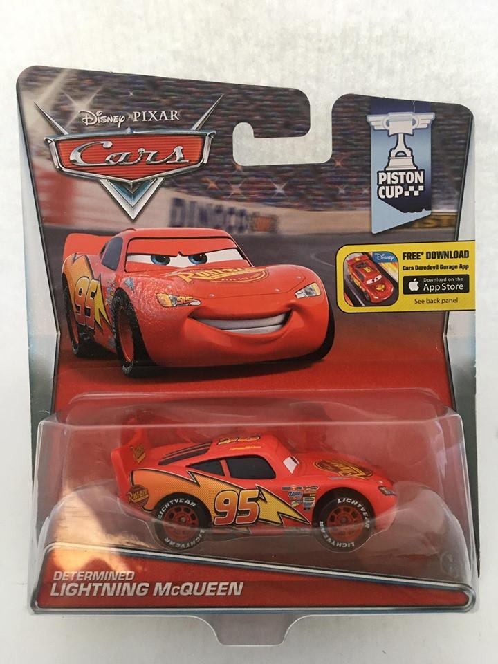 Disney Cars - Determined Lightning McQueen Vermelho - Piston Cup