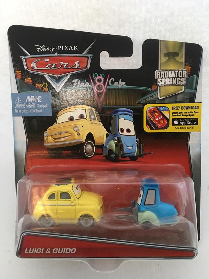 Disney Cars - Luigi e Guido Amarelo/Azul - Radiator Springs