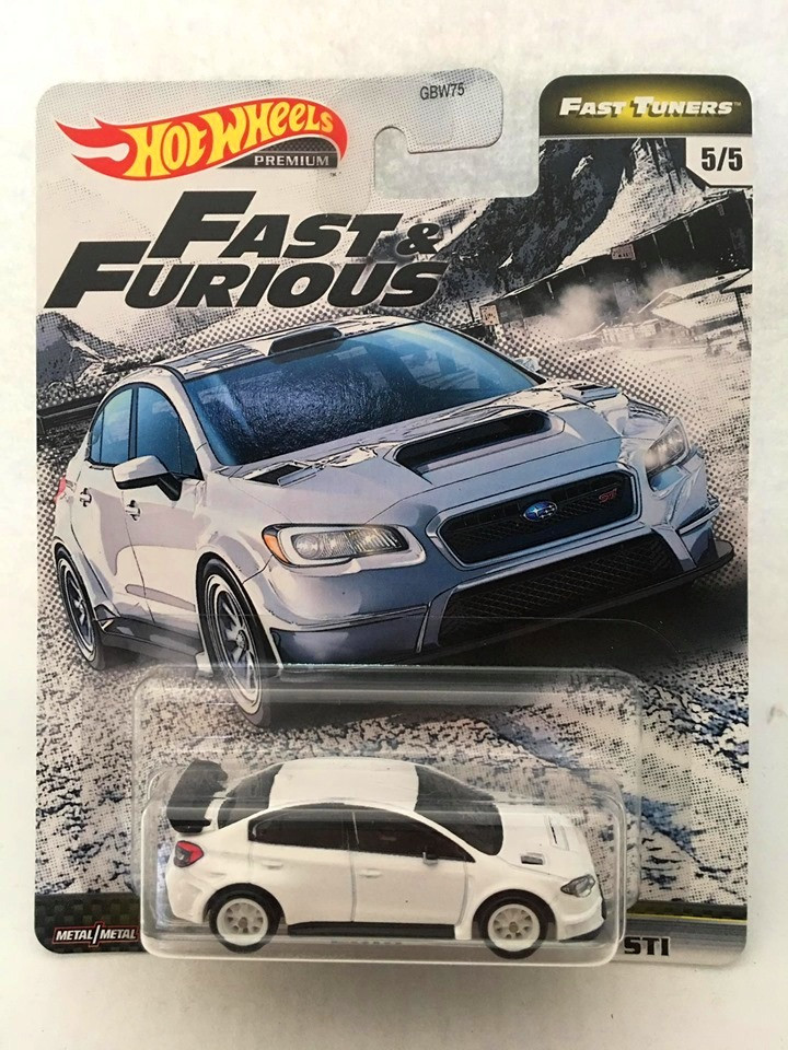 Hot Wheels - 2016 Subaru Wrx Sti Branco - Fast Tuners - Fast and Furious - Velozes e Furiosos