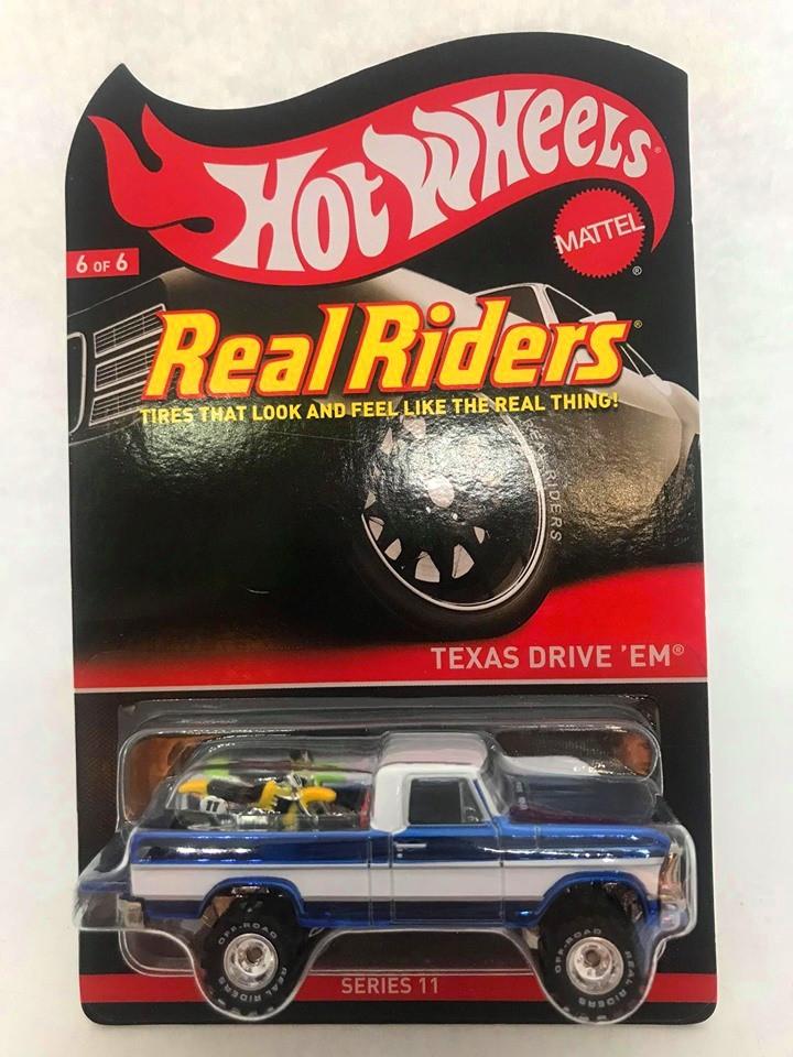 Hot Wheels - Texas Drive Em Azul - Real Riders