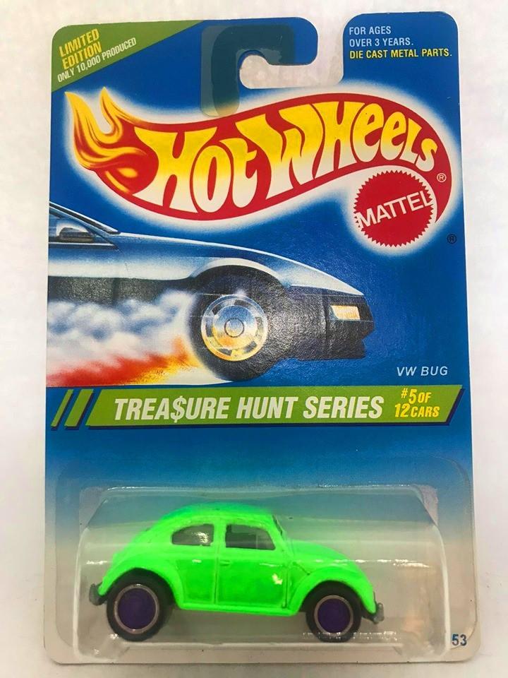 Hot Wheels - Vw Bug Verde - Treasure Hunt Super 1995