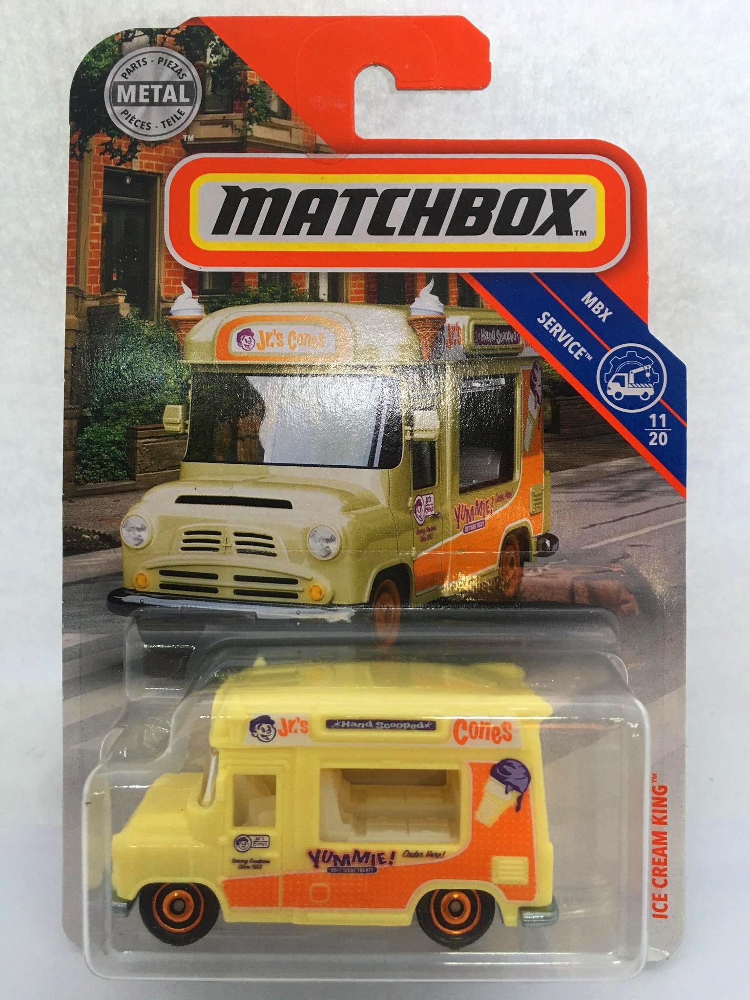 Matchbox - Ice Cream King Amarelo - MBX Service - Básico 2020