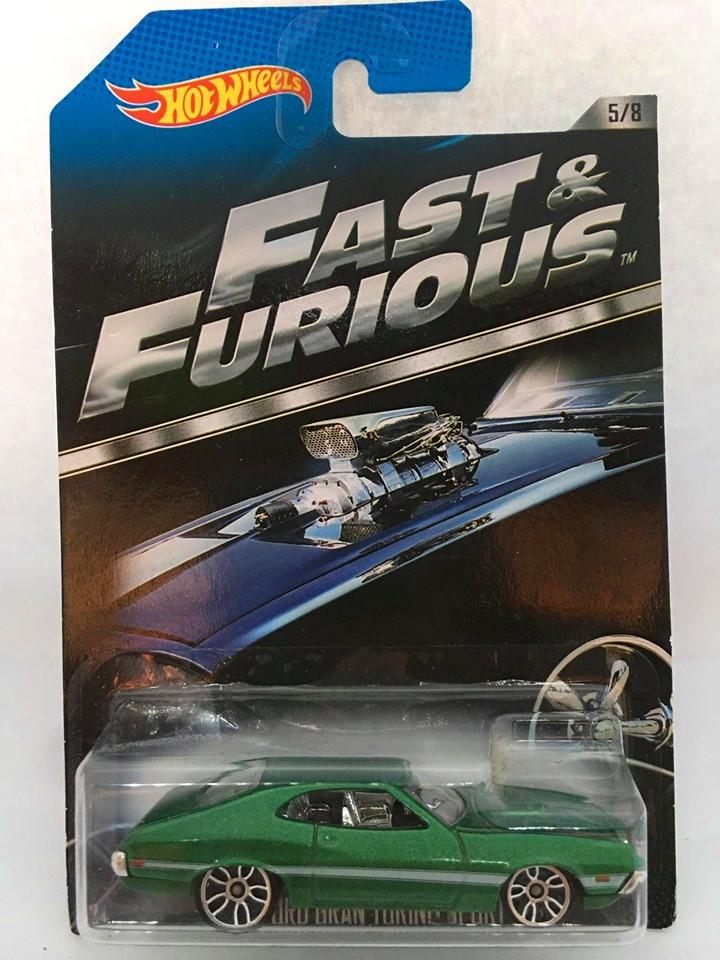 Hot Wheels - 72 Ford Gran Torino Sport Verde - Fast & Furious