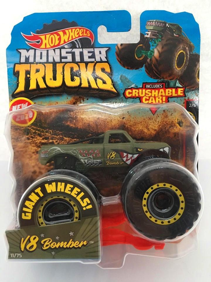 Hot Wheels - V8 Bomber Verde - Giant Wheels - Monster Trucks