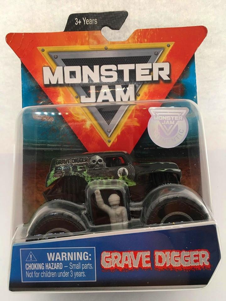 Spin Master - Grave Digger Verde/Preto - Monster Jam