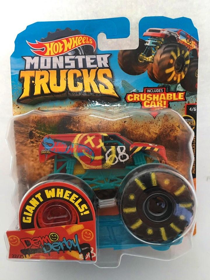 Hot Wheels - Demo Derby Colorido - Giant Wheels - Monster Trucks
