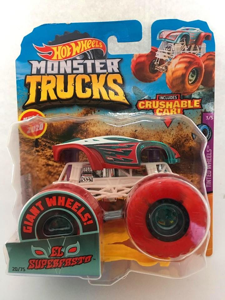 Hot Wheels - El Superfasto Vermelho - Giant Wheels - Monster Trucks