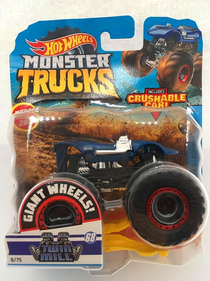 Hot Wheels - Twin Mill Azul - Giant Wheels - Monster Trucks