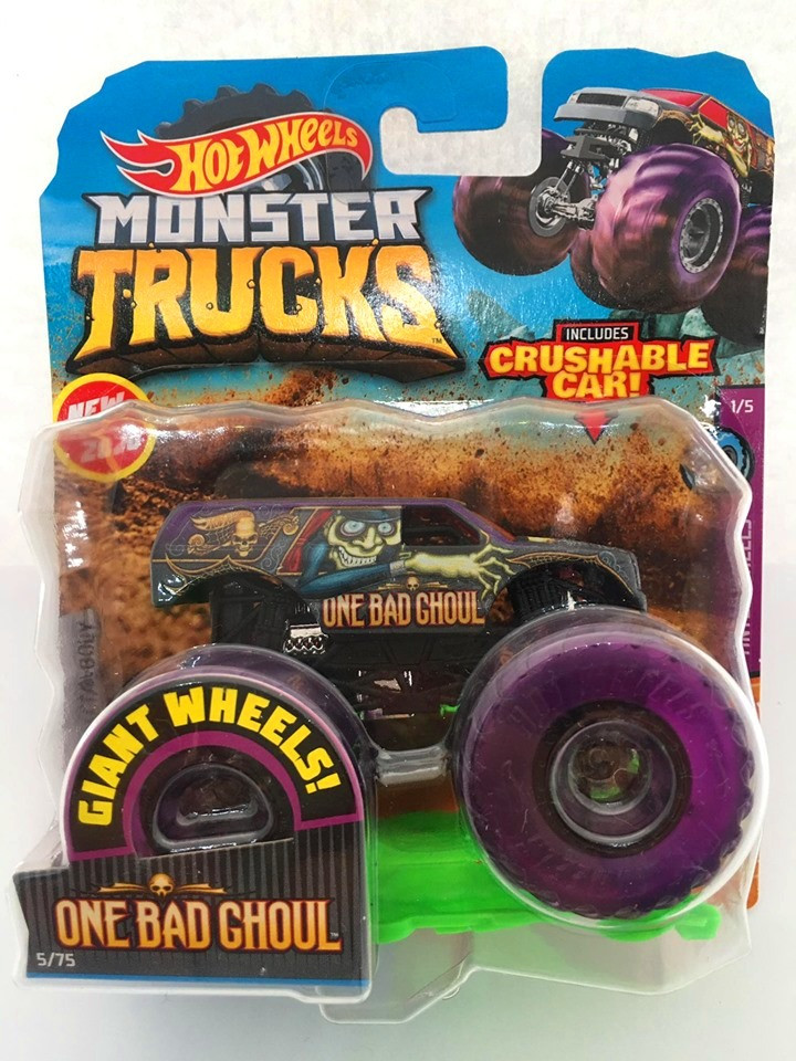 Hot Wheels - One Bad Ghoul Roxo - Giant Wheels - Monster Trucks