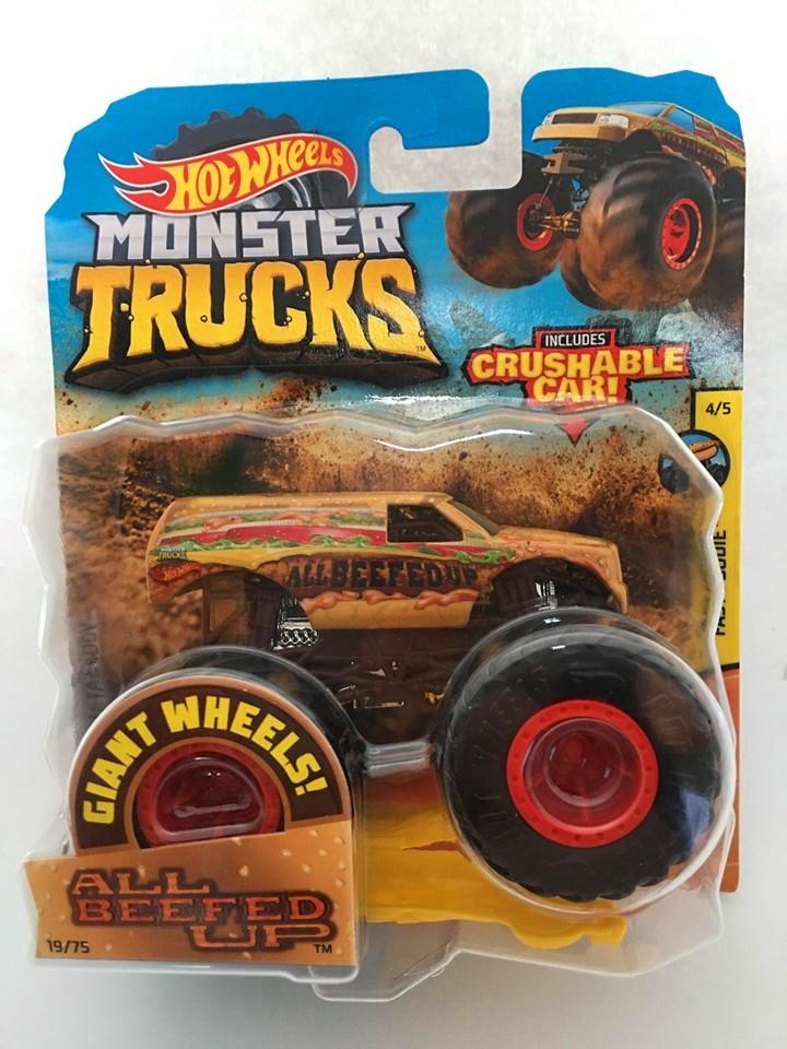 Hot Wheels - All Beefed Up Amarelo - Giant Wheels - Monster Trucks
