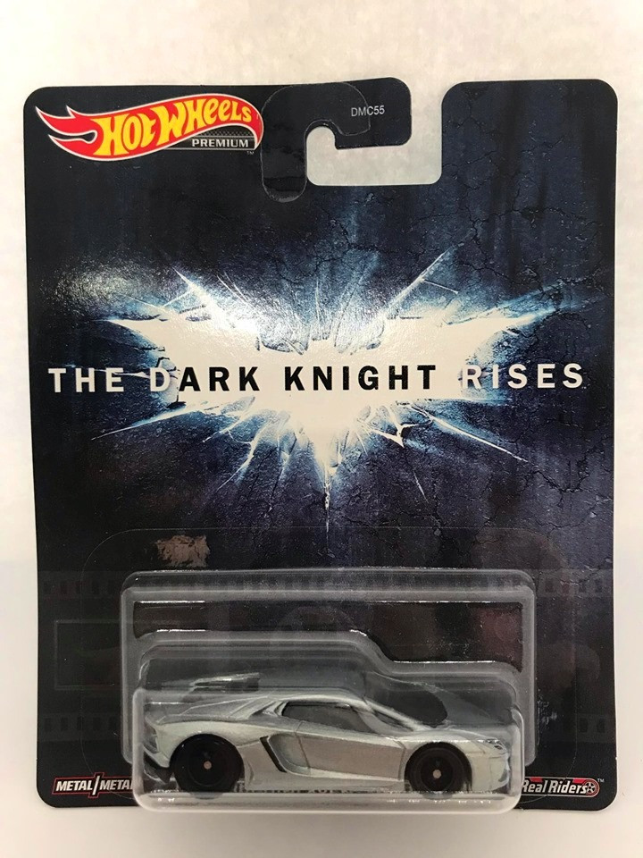 Hot Wheels - Lamborghini Aventador Coupé Cinza - The Dark Knight Rises