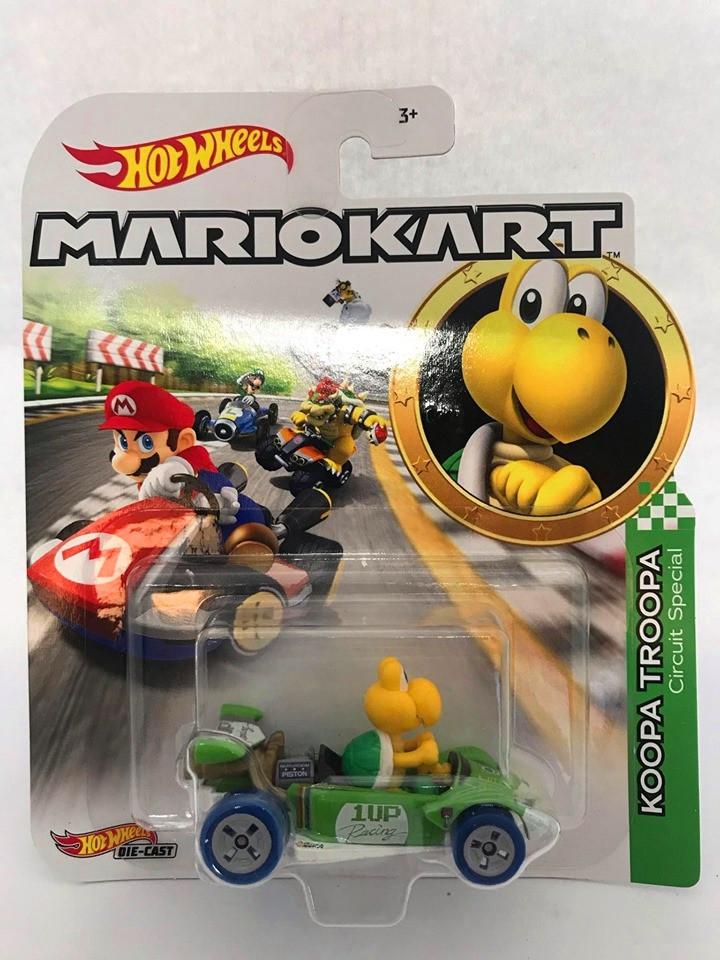 Hot Wheels - Koopa Troopa Verde - Mario Kart