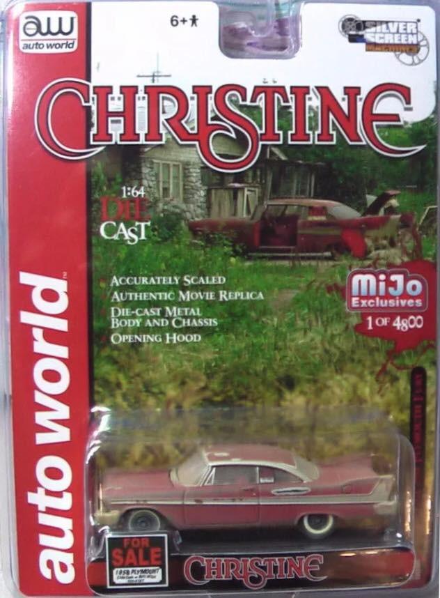 Auto World - An Evil 1958 Plymouth Fury - Christine - Mijo Exclusive Limitado em 4800
