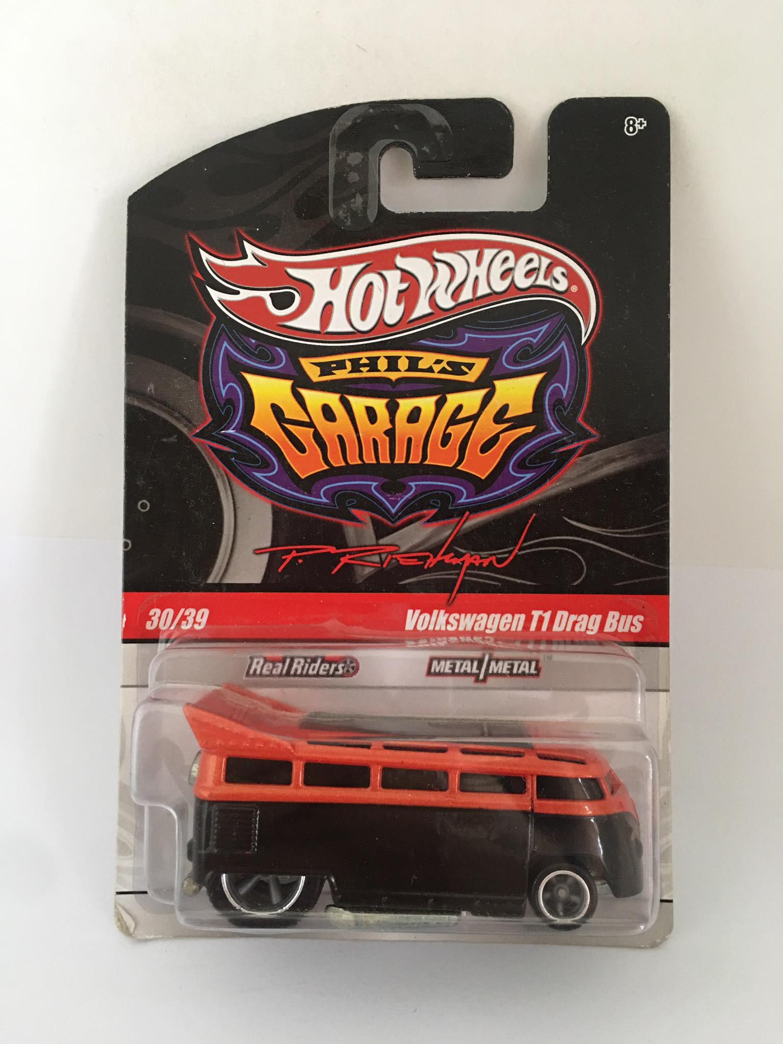 Hot Wheels - Volkswagen T1 Drag Bus Laranja/Preto - Garage