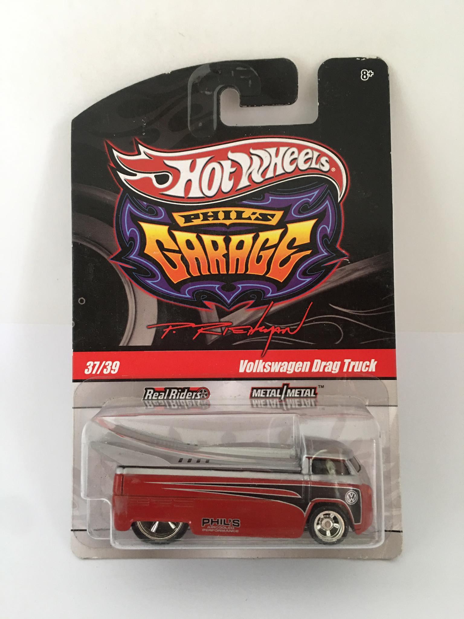 Hot Wheels - Volkswagen Drag Bus Vermelho - Garage - Leia