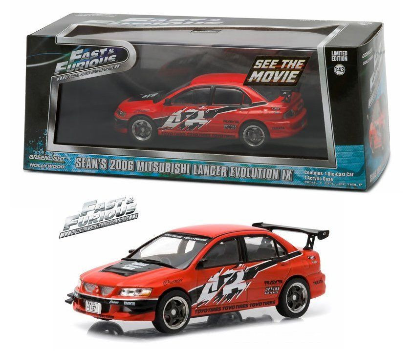 Greenlight Hollywood - Sean's  2006 Mitsubishi Lancer Evolution IX - Fast and Furious - Escala 1:43