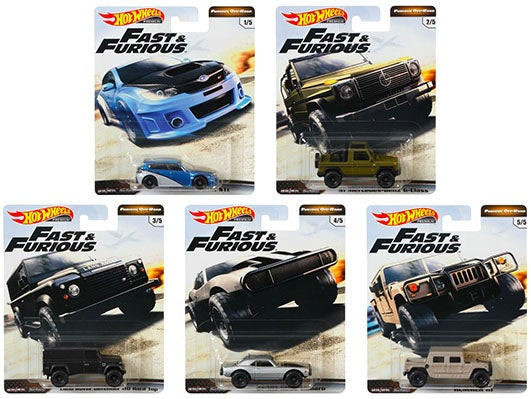 Hot Wheels - Set Fast & Furious 2019 - Completo 5 Miniaturas - HW Premium - Furious Off-Road