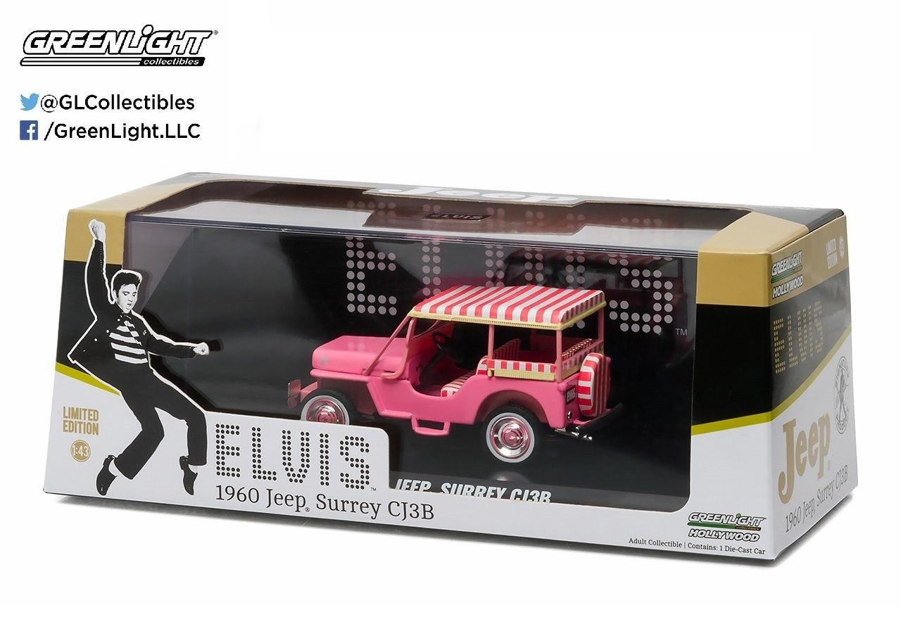 Greenlight - 1960 Jeep Surrey CJ3B Rosa - Elvis Presley - Escala 1:43