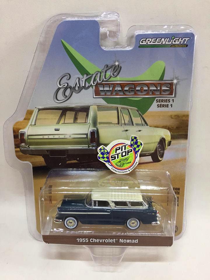 Greenlight - 1955 Chevrolet Nomad Verde - Estate Wagons