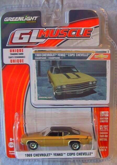 Greenlight - 1969 Chevrolet Yenko Copo Chevelle Dourado - GL Muscle