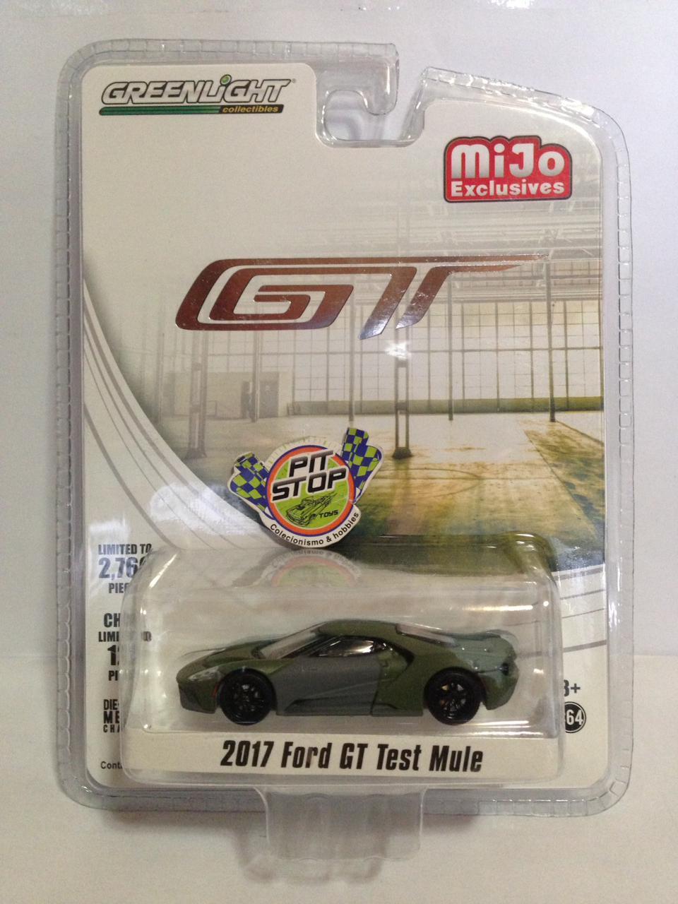 Greenlight - 2017 Ford GT Teste Mule Verde - GT - MiJo Exclusives - Limitado em 2760 pcs