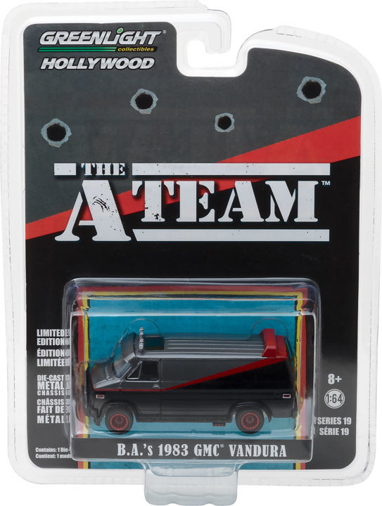 Greenlight - B.A's 1983 GMC Vandura - Esquadrão Classe A - The A Team - Hollywood