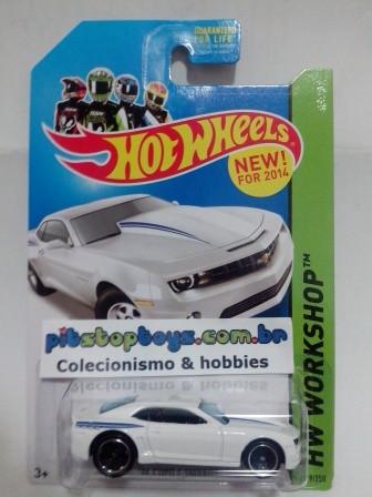 Hot Wheels - 14 Copo Camaro Branco - Mainline 2014