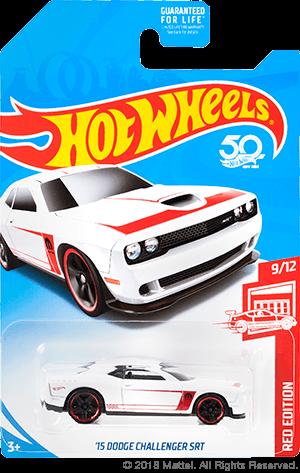Hot Wheels - 15 Dodge Challenger SRT Branco - Exclusiva Mercados Target - Mainline 2018