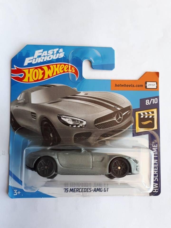 Hot Wheels - 15 Mercedes-AMG GT Cinza - Mainline 2019